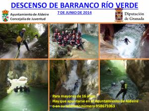 (07/06/14) Descenso Barranco Río Verde con Ayuntamiento de Aldeire