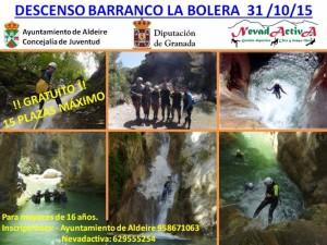 (31/10/15) Descenso de Barranco La Bolera - Ayto. Aldeire