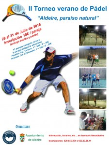 Cartel torneo de pádel en Granada