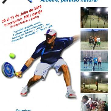 II Torneo de pádel en Aldeire, Granada